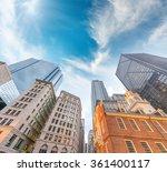 Stock photo beautiful boston skyline 361400117