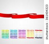 vector ribbons set | Shutterstock .eps vector #361404323