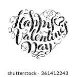 happy valentine's day  hand... | Shutterstock .eps vector #361412243