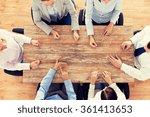close up of business team...   Shutterstock . vector #361413653