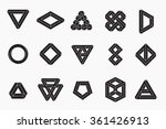 set of impossible shapes ... | Shutterstock .eps vector #361426913