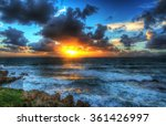 clouds over alghero shore at... | Shutterstock . vector #361426997