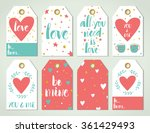 valentine's day card templates... | Shutterstock .eps vector #361429493