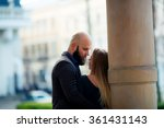 happy couple in love with each... | Shutterstock . vector #361431143