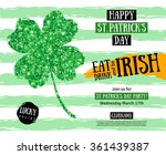 happy st. patrick's day pub... | Shutterstock .eps vector #361439387
