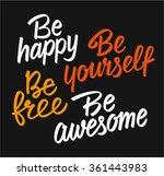 set of lettering motivational... | Shutterstock .eps vector #361443983