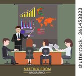business meeting and... | Shutterstock .eps vector #361453823