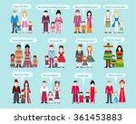 different nationalities happy... | Shutterstock . vector #361453883