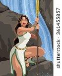 atalanta  greek heroine... | Shutterstock .eps vector #361455857