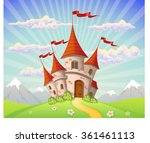 landscape with castle and... | Shutterstock .eps vector #361461113