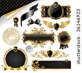 gold   black collection of... | Shutterstock .eps vector #36146923