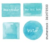 Watercolor Set Of Objects....