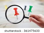 magnifying glass looking at... | Shutterstock . vector #361475633