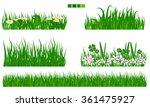 illustrated vector green grass... | Shutterstock .eps vector #361475927