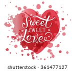 hand sketched sweet sweet love...