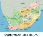 south africa   highly detailed... | Shutterstock .eps vector #361483097