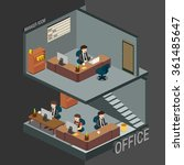 3d isometric office  managers... | Shutterstock .eps vector #361485647