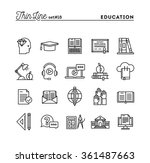 education  online books ... | Shutterstock .eps vector #361487663