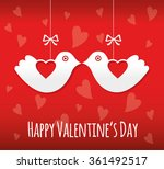 valentines day card with birds | Shutterstock .eps vector #361492517