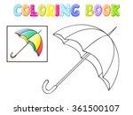 coloring umbrella on white
