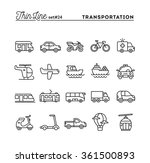 transportation and vehicles ... | Shutterstock .eps vector #361500893