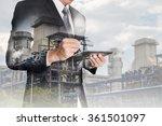 double exposure of businessman... | Shutterstock . vector #361501097