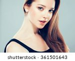 beautiful young woman portrait... | Shutterstock . vector #361501643