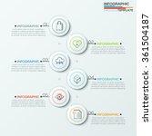 modern infographics process... | Shutterstock .eps vector #361504187