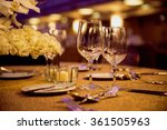 Empty Glasses And Dishes Set I...
