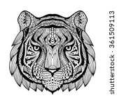 tiger head. patterned head of... | Shutterstock .eps vector #361509113