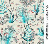 vector seamless pattern.stylish ... | Shutterstock .eps vector #361525727