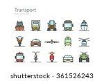 transport. line icons set.... | Shutterstock .eps vector #361526243
