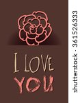 heart from paper valentines day ... | Shutterstock .eps vector #361526333