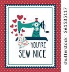 vector illustration of a sewing ... | Shutterstock .eps vector #361535117