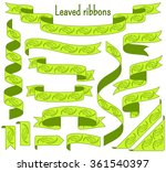 cartoon stripped ribbons with... | Shutterstock .eps vector #361540397