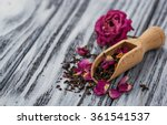 dried tea with rose petals.... | Shutterstock . vector #361541537