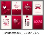 valentine cards set. vector... | Shutterstock .eps vector #361542173