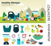 healthy lifestyle. sport ... | Shutterstock .eps vector #361547927