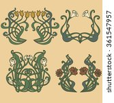 art nouveau and art deco floral ... | Shutterstock .eps vector #361547957