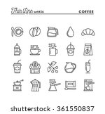 coffee  thin line icons set ... | Shutterstock .eps vector #361550837