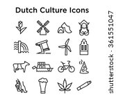 dutch culture icons  culture... | Shutterstock .eps vector #361551047