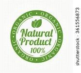 eco bio vintage label | Shutterstock .eps vector #361556873