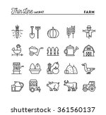 farm  animals  land  food... | Shutterstock .eps vector #361560137