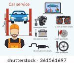 car service with diagnostics... | Shutterstock .eps vector #361561697