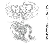 Mythological Phoenix Or Phoeni...