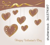 valentine's background with... | Shutterstock .eps vector #361579397