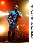 Small photo of BARCELONA - OCT 20: Future Islands (synthpop electronic dance band) in concert at Razzmatazz stage on October 20, 2014 in Barcelona, Spain.