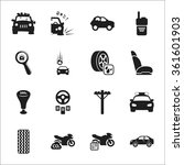 car icons set.  | Shutterstock .eps vector #361601903