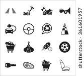 car icons set. car icons simple....