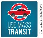 use mass transit illustration... | Shutterstock .eps vector #361603997